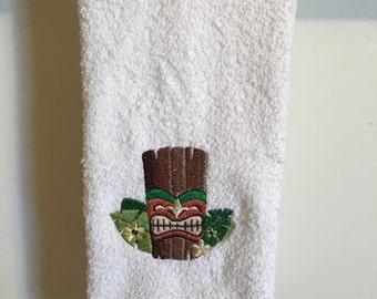 Embroidered ~TIKI Bar ALOHA KAHUNA~ Kitchen Bath Hand Towel