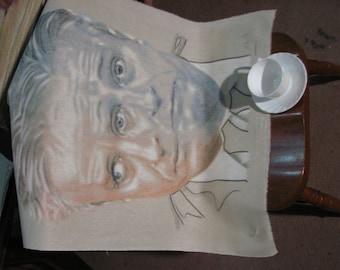 Double portrait of Jon Stewart
