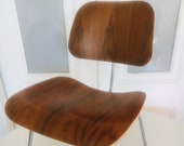 Ray Charles Eames Walnut DCM Chair Herman Miller Mid Century Modern