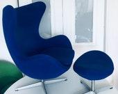 Arne Jacobsen for Fritz Hansen Vintage Egg Chair Ottoman Mid Century Modern Danish