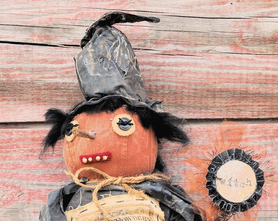 SALE! Primitive Standing Halloween Witch