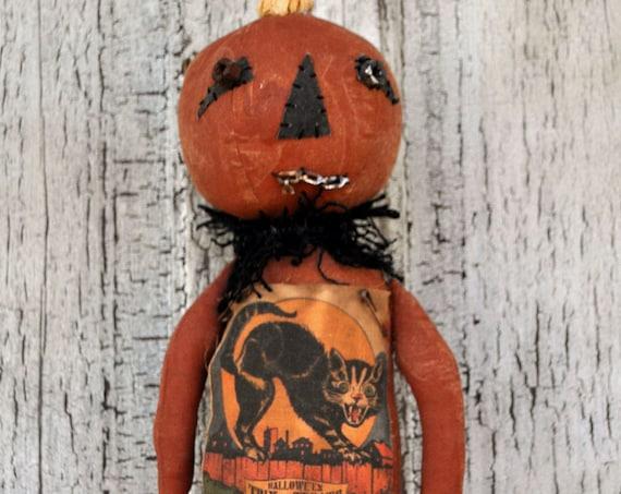 SALE! Primitive Pumpkin Man with Stick Legs