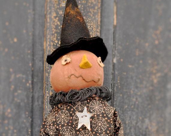 Primitive Pumpkin Doll with Spider