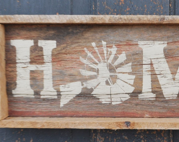 Home Windmill Barnwood Sign