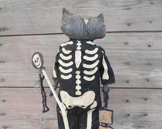 NEW! Primitive Skeleton Cat