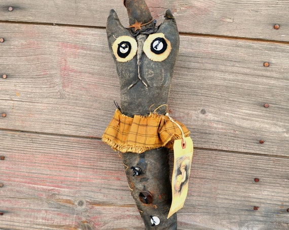 SALE! Primitive Cat Witch Stocking