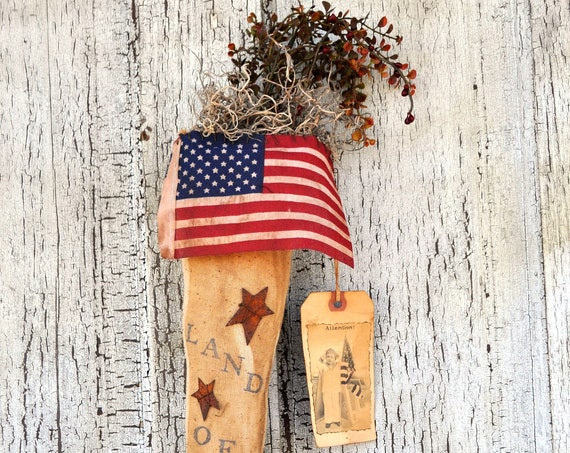SALE! Primitive Land of the Free Stocking