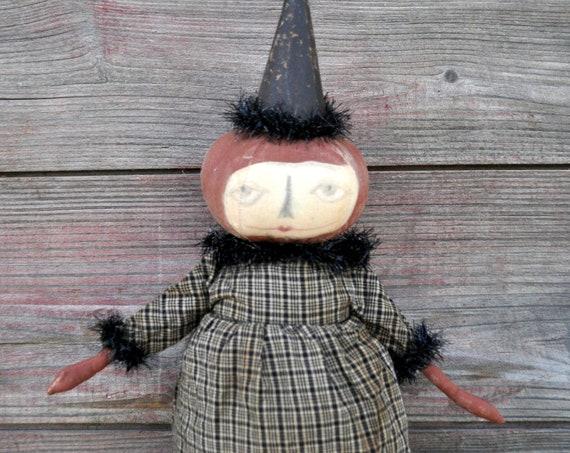 SALE! Primitive Standing Pumpkin Girl