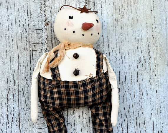 SALE! Primitive Snowman with Star Crown