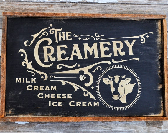 The Creamery Wooden Sign