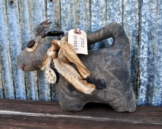 SALE! Primitive Chase Your Dreams Dog