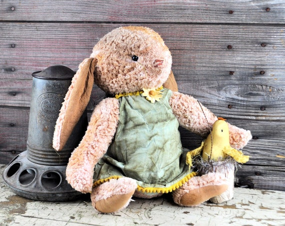 Primitive Limited Edition Peach Fuzzy Bunny with Chick