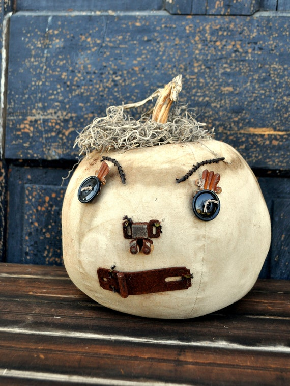 Prim One-of-a-kind Off White Jack-O-Lantern