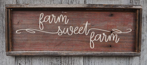 Farm Sweet Farm Barnwood Sign