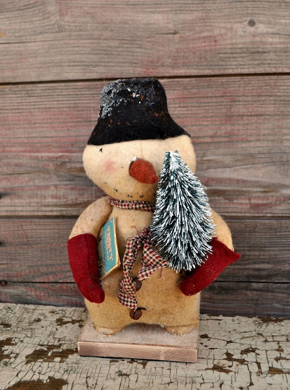 SALE! Primitive Snowman with Frosty Book