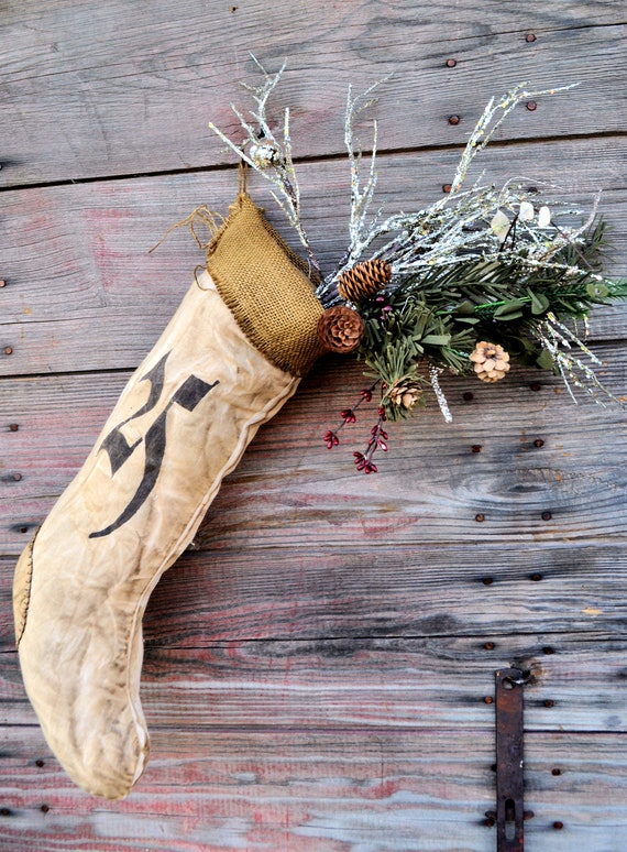 SALE! Primitive Old World Stocking