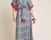 Anthropologie Sachin Babi Tasseled Boho Maxi Dress Wedding Summer Gown Size 2 Originally 248 Sold Out
