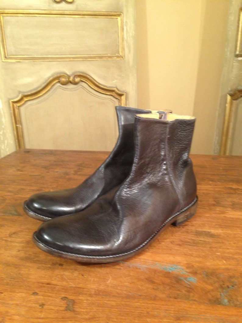 release date bc2fe 35dfd Bed Stu Bench Made Side Zip Slipon Ankle Dress Fashion Men's Boots Shoes  Size 13 Black