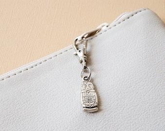 matryoshka small zip pull charm babushka charm for bag purse journal back pack planner keys Russian doll zipper charm small bag accessory