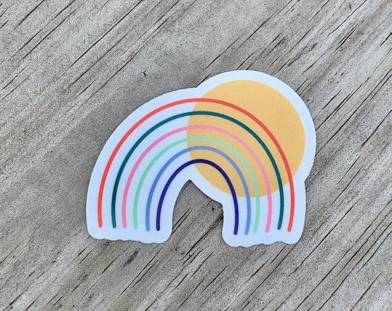 Rainbow + Sun Sticker