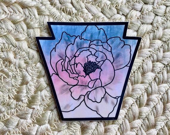 PA Floral Keystone Sticker