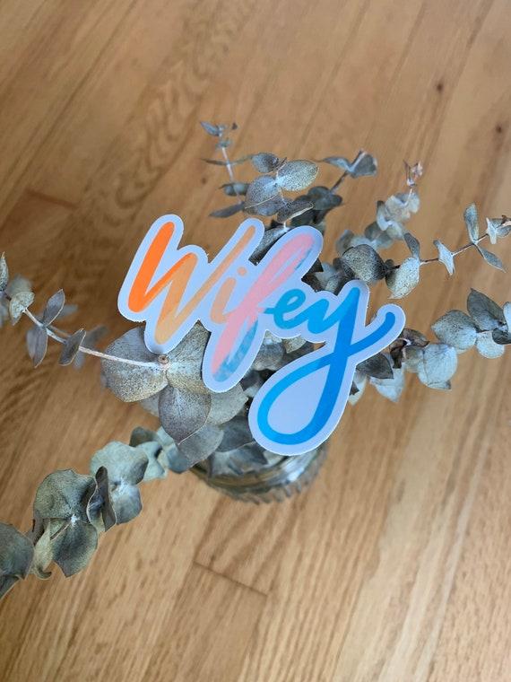 Wifey Watercolor Sticker