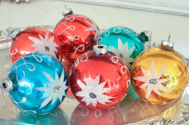 Shiny Brite Ornaments German Vintage Christmas Ornaments Made In Germany Set Of 6