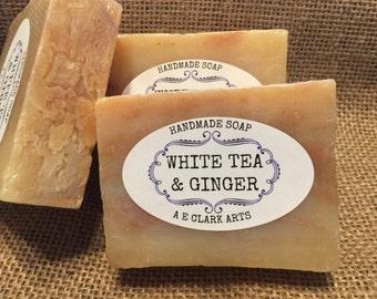 White Tea and Ginger, Glycerin Soap, Homemade, Vegan Soap