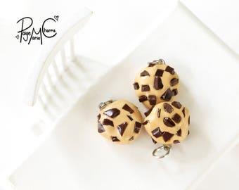 Chunky Chocolate Chip Cookie - Polymer Clay Jewelry Food Charm