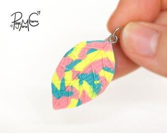 BeLeaf in Me Pastel Leaf - Polymer Clay Jewelry Food Charm