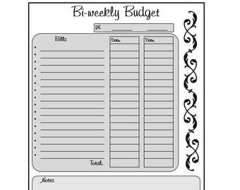 photograph relating to Bi Weekly Budget Printable called Biweekly finances Etsy