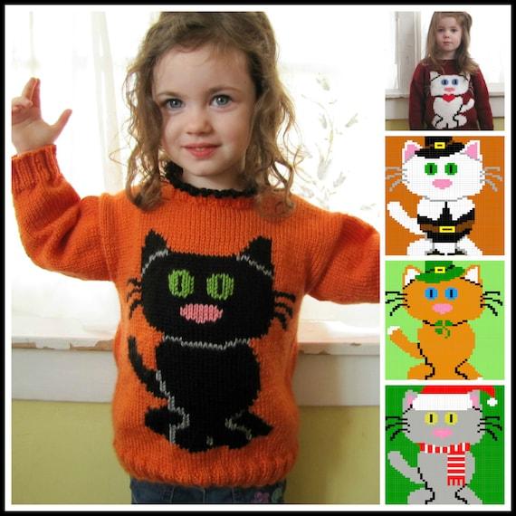 A Clowder of Cat Sweaters Knitting Pattern PDF from ...