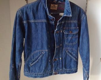 3c511296 Vintage Wrangler Blue Bell selvedge denim trucker jacket size 16