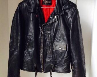 sears leather jacket etsy