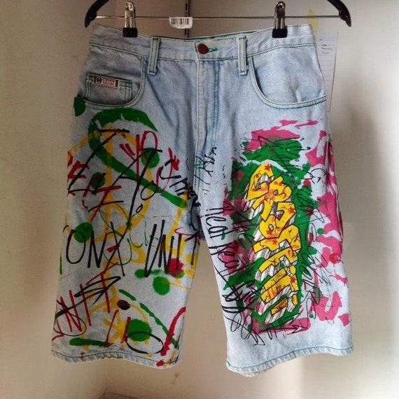 "Vintage CROSS COLOURS ""graffiti"" hip hop snow beac"