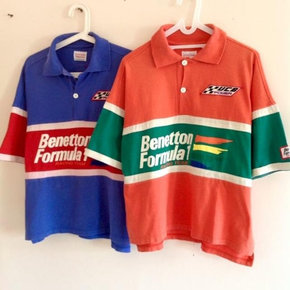 Vintage set of 2 BENETTON FORMULA F1 stadium snow