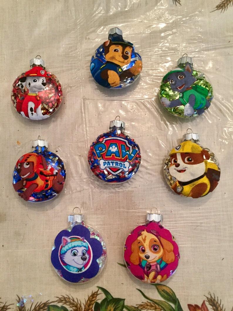 Paw Patrol Christmas Ornament.Handmade Paw Patrol Christmas Ornaments Your Choice Of Character