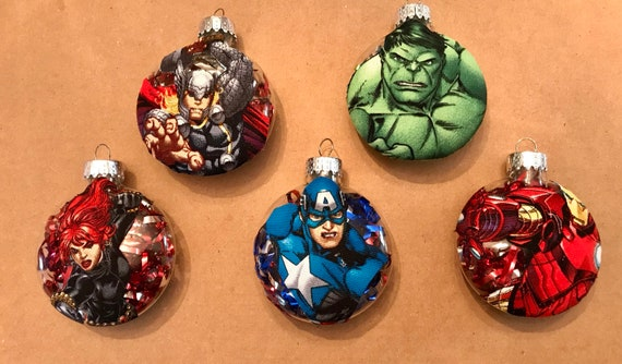 image 0 - Handmade Avengers Christmas Ornaments Your Choice Etsy