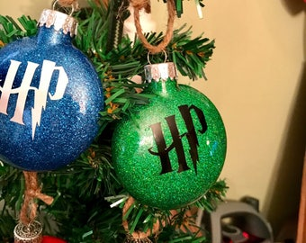 "Handmade ""HARRY POTTER"" Christmas Ornaments! Your choice of house!"
