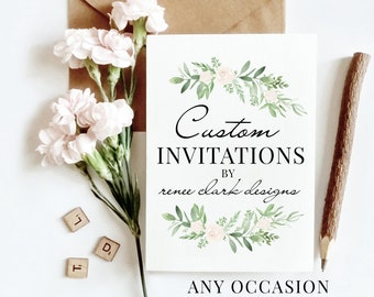 Custom Invitations Etsy