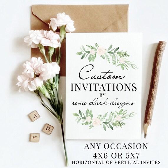 Custom Invitation Cards And Invitations Custom Invite Etsy