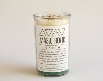 Earth Element Handmade Ritual Candle - Small