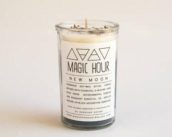 New Moon Handmade Ritual Candle - Small