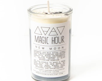 New Moon Ritual Candle - Small