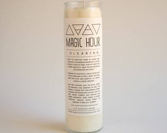 Clearing Handmade Ritual Candle - Large