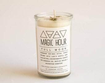 Full Moon Handmade Ritual Candle - Small