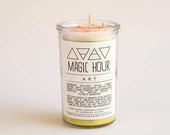 Art Handmade Ritual Candle - Small