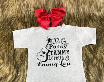 075fe147b Baby Country Shirt - Country Shirts for Toddler - Girls Shirts Kids - Toddler  Shirts Kids - Dolly Patsy Tammy - Dolly Parton Shirt - Baby