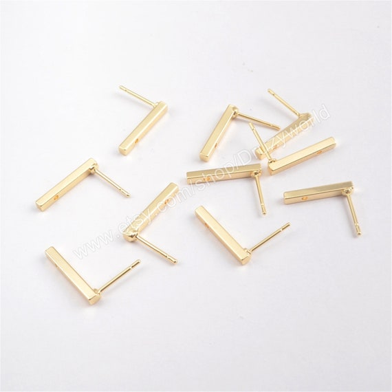 50pcs-Brass Connector Link Closed Square Hammered Gold Plated..