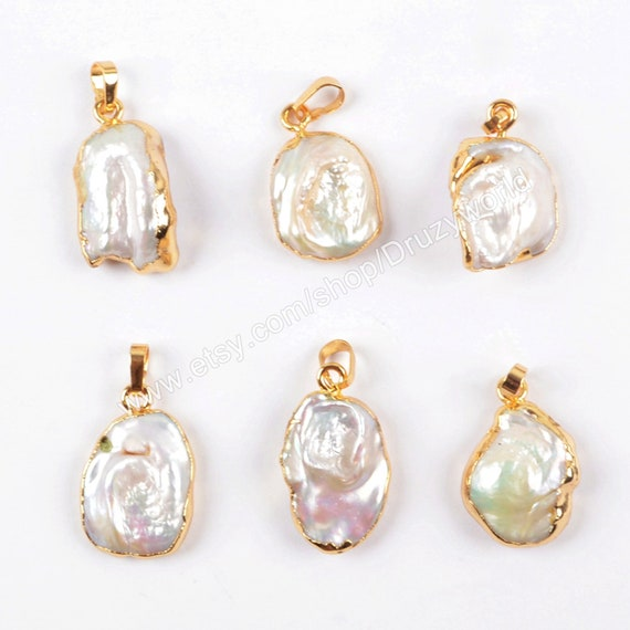 Fashion Gold Plated Semicircle Shell Stone Pendant Necklace New